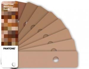 Pantone скала с еталонни телесни цветове